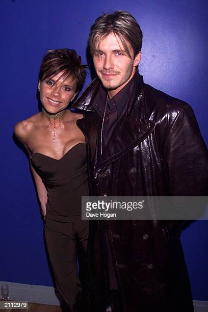 Manchester United and England soccer star David Beckham with pop star wife Victoria attend the charity premiere of 'Withnail and I' in London's West...