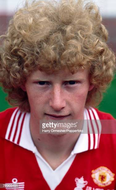 Football Season 1977/8 Manchester United Photocall A portrait of Ashley Grimes