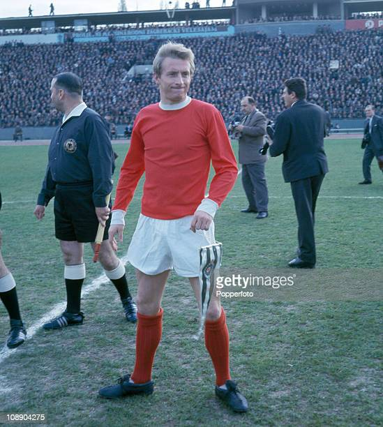 Manchester United captain Denis Law before the European Cup Semifinal 1st leg against Partizan Belgrade held in Belgrade on 13th April 1966 Partizan...