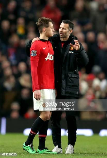 Manchester United coach Ryan Giggs and Adnan Januzaj