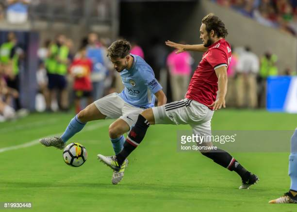 Manchester United defender Daley Blind tries to recover the ball during the International Champions Cup match between Manchester United and...