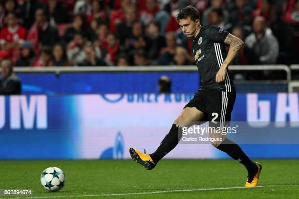 Manchester United defender Victor Lindelof from Sweden during SL Benfica v Manchester United UEFA Champions League round three match at Estadio da...
