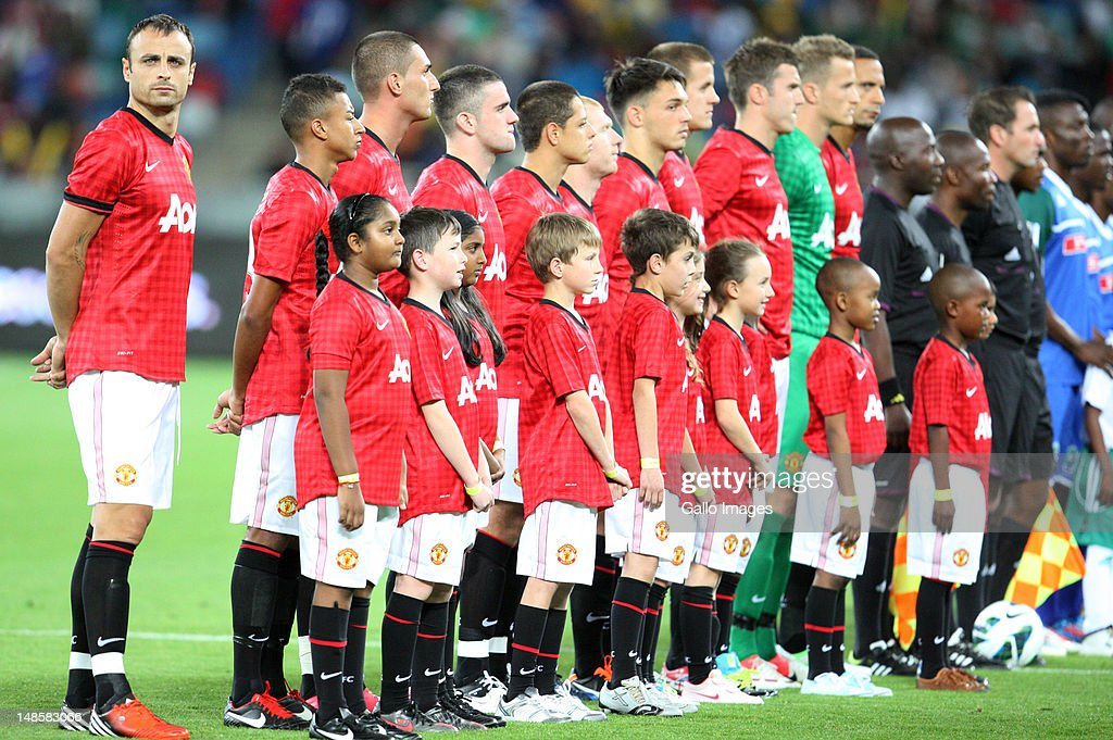 Manchester United during the MTN Football Invitational match between Amazulu and Manchester United from Moses Mabhida Stadium on July 18, 2012 in Durban, South Africa.