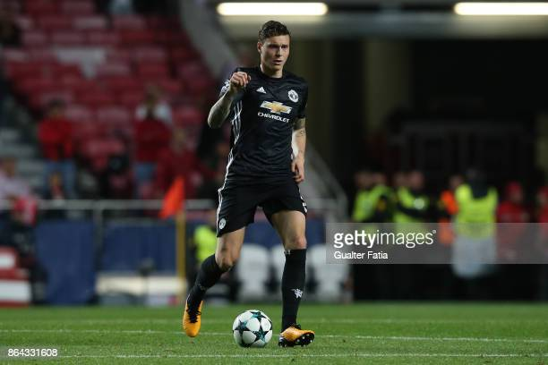 Manchester United FC defender Victor Lindelof from Sweden in action during the UEFA Champions League match between SL Benfica and Manchester United...