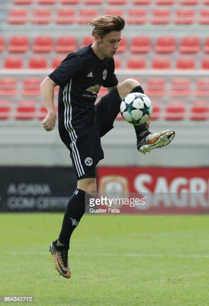 Manchester United FC midfielder Indy Boonen in action during the UEFA Youth League match between SL Benfica and Manchester United FC at Caixa Futebol...