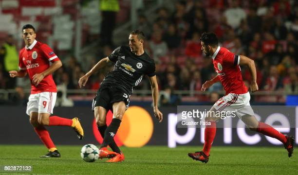 Manchester United FC midfielder Nemanja Matic in action during the UEFA Champions League match between SL Benfica and Manchester United FC at Estadio...