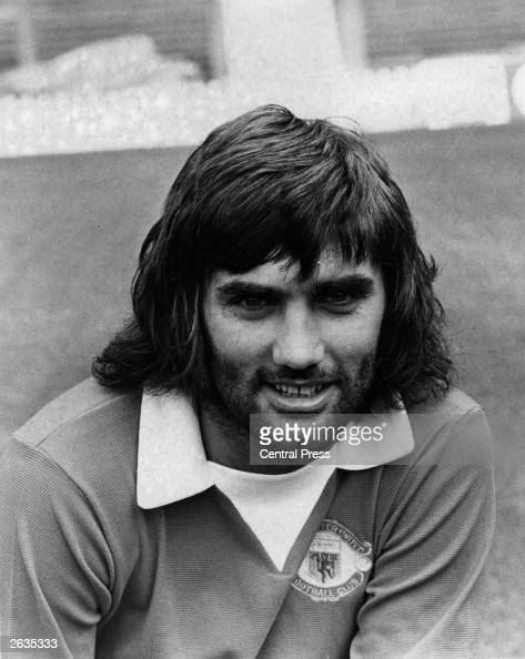 Manchester United footballer George Best smiles for the camera