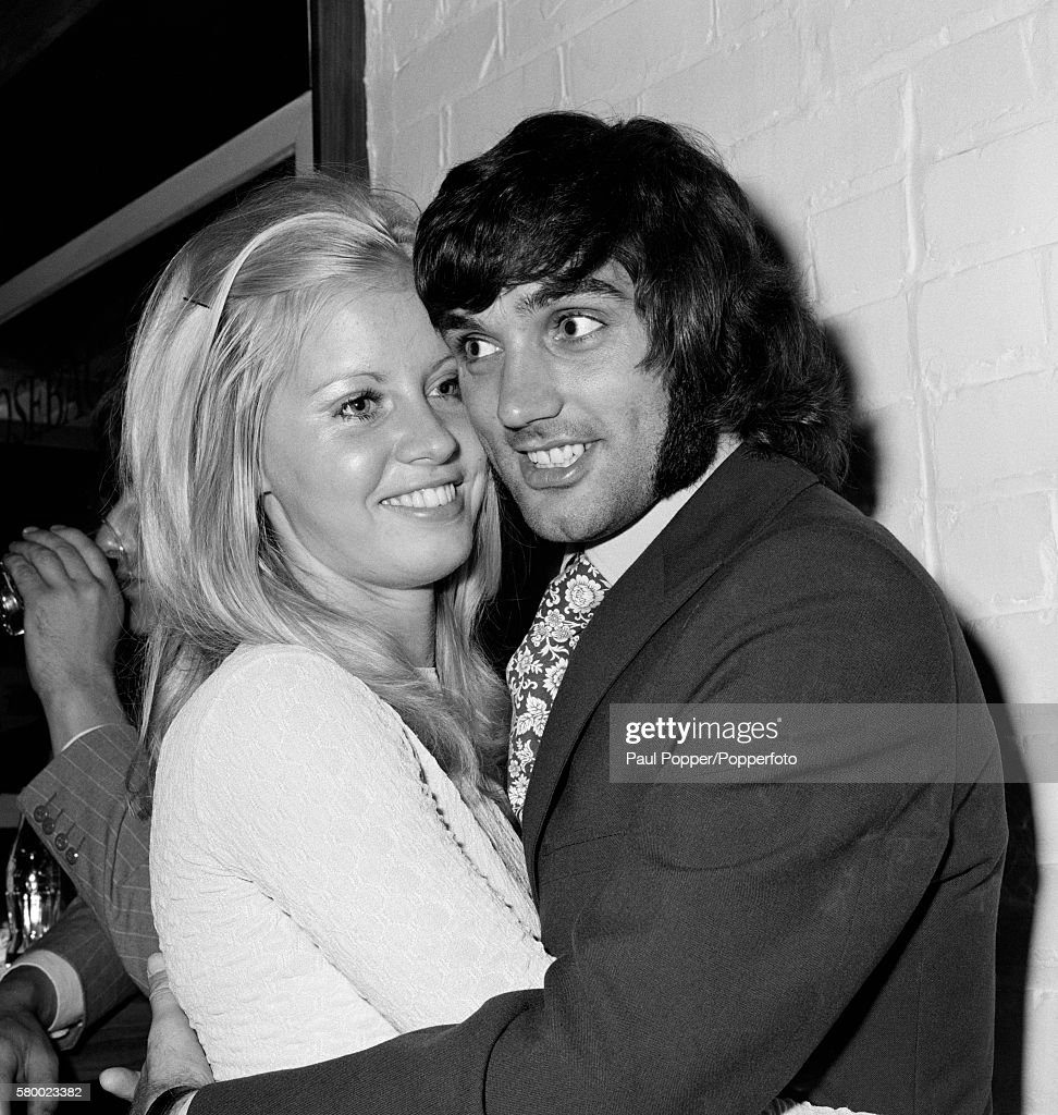 George Best With A Young Blond Woman In Manchester