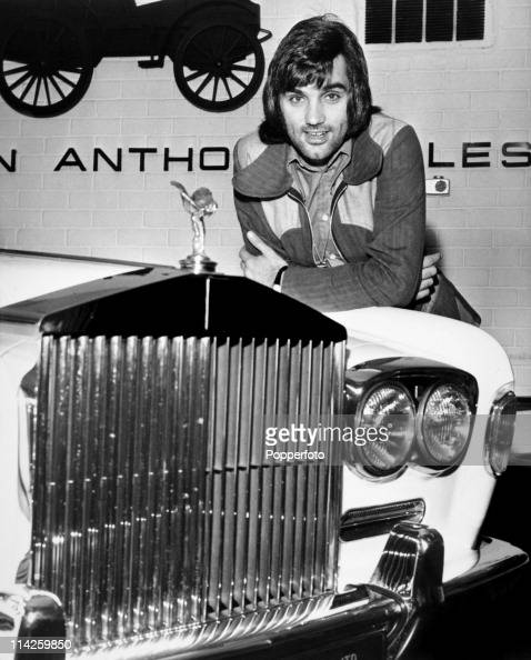 Manchester United footballer George Best with his new Rolls Royce Silver Ghost in Manchester on 4th December 1972