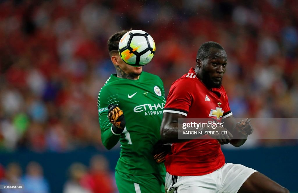 FBL-US-CHAMPIONS CUP-MANU-MANCHESTER CITY : News Photo