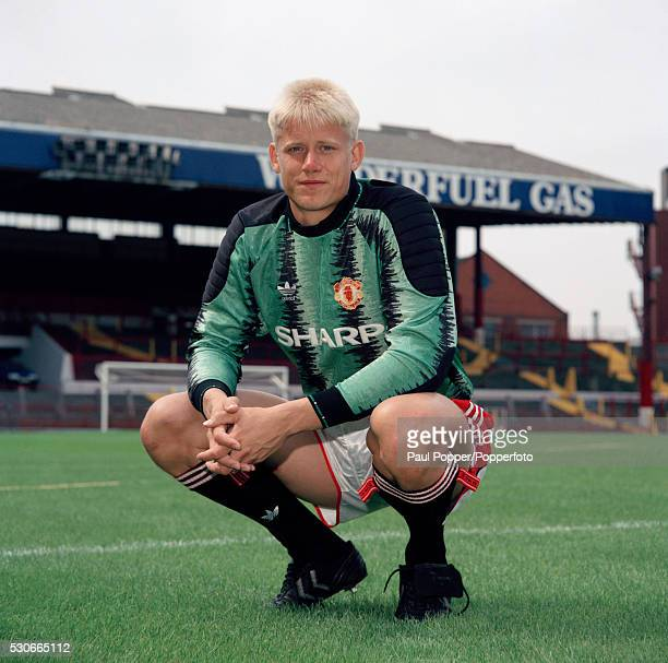Manchester United goalkeeper Peter Schmeichel at Old Trafford in Manchester circa August 1991