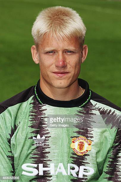 Manchester United goalkeeper Peter Schmeichel at the pre 1991/92 season photocall at Old Trafford on August 14 1991 in Manchester England