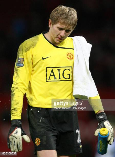 Manchester United goalkeeper Tomasz Kuszczak following the Barclays Premier League match at Old Trafford Manchester