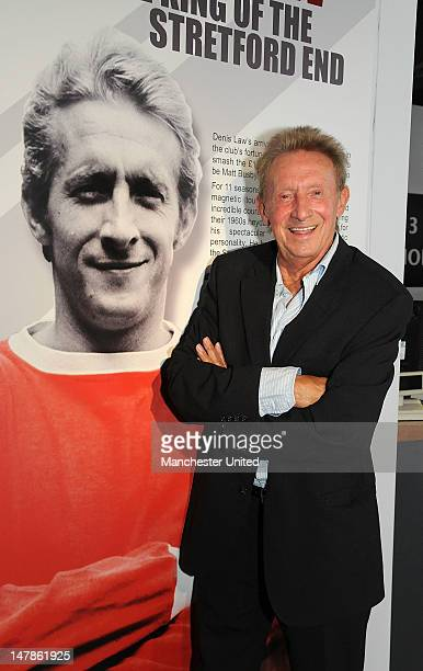Manchester United legend Denis Law opens an exhibition to mark the 50th anniversary of him signing for Manchester United at the club museum at Old...