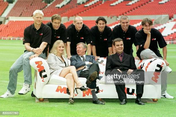 FEATURE Manchester United manager Alex Ferguson launches MUTV at Old Trafford today with presenters Philipa Gant and Mark Pearson along with Man Utd...