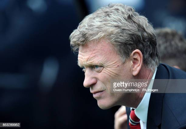 Manchester United manager David Moyes during the Barclays Premier League match at the St James' Park Newcastle