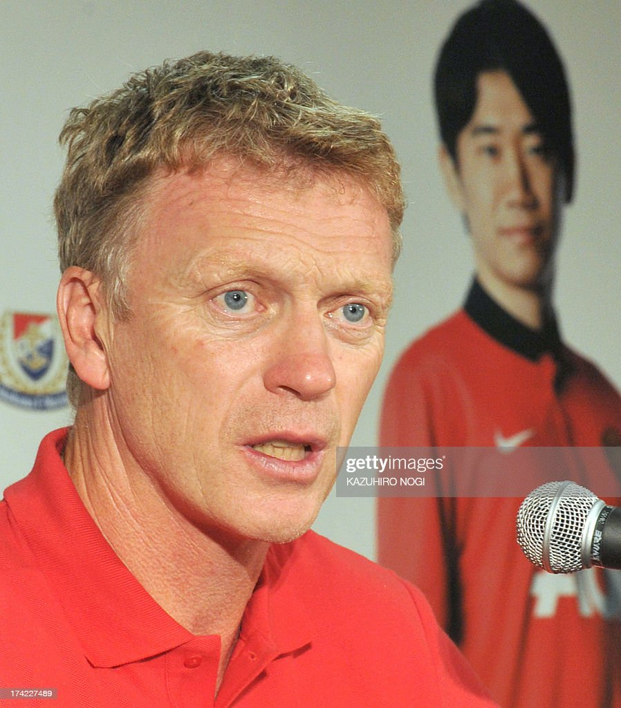 Manchester United manager David Moyes speaks during a press conference prior to a training session at Nissan Stadium in Yokohama, suburban Tokyo on July 22, 2013. The United will play Yokohama F Marinos on July 23 and then face Kagawa's former J-League club Cerezo Osaka at Nagai Stadium on July 26.