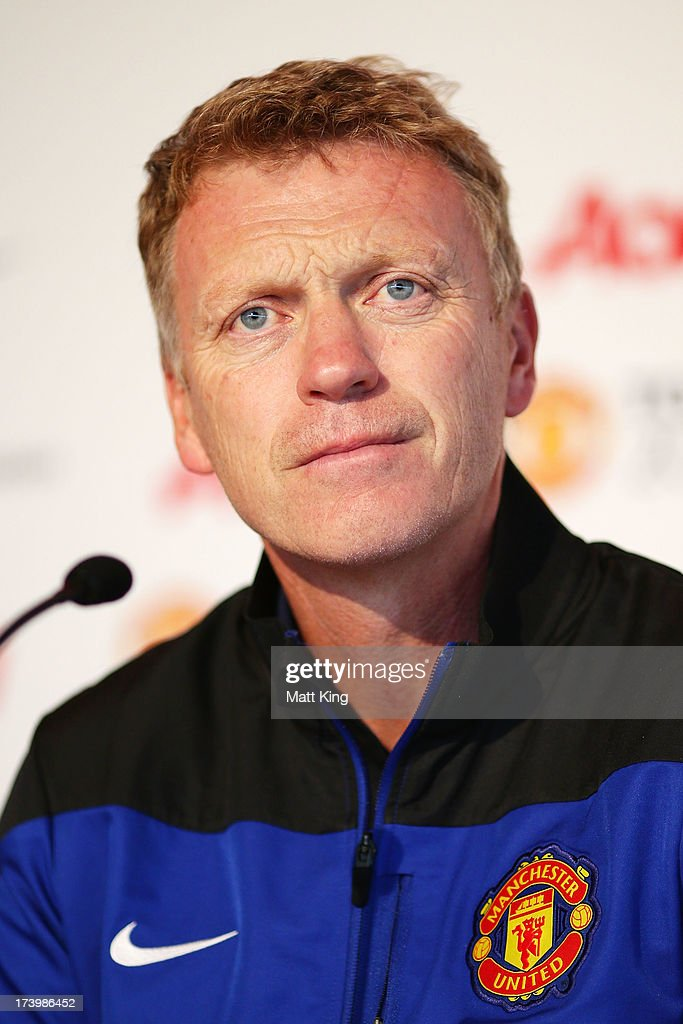Manchester United manager David Moyes speaks to the media during a Manchester United press conference at Museum of Contemporary Art on July 19, 2013 in Sydney, Australia.