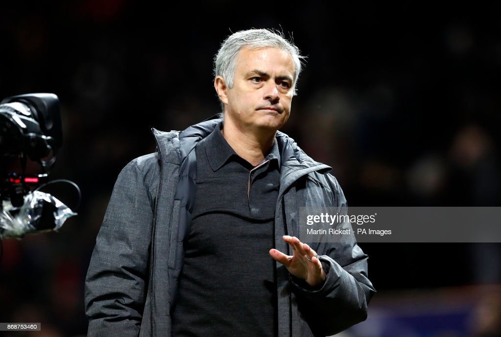 Manchester United manager Jose Mourinho after the final whistle during the UEFA Champions League, Group A match at Old Trafford, Manchester.