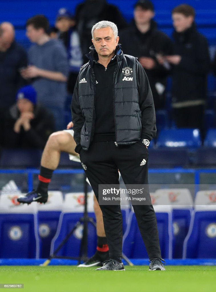 Manchester United manager Jose Mourinho before the Emirates FA Cup, Quarter Final match at Stamford Bridge, London.