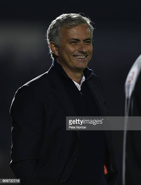Manchester United manager Jose Mourinho looks on during the EFL Cup Third Round match between Northampton Town and Mancester United at Sixfields...