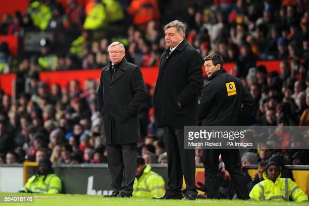 Manchester United manager Sir Alex Ferguson and West Ham United manager Sam Allardyce on the touchline