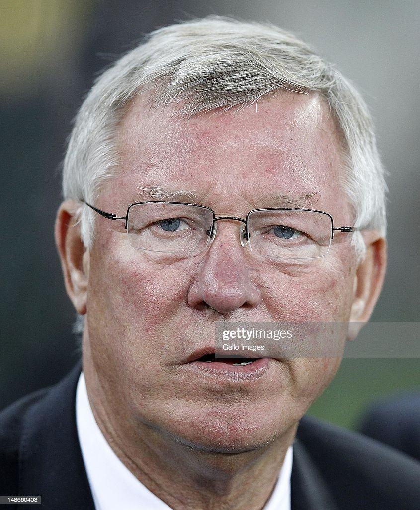 Manchester United manager, Sir Alex Ferguson looks on during the MTN Football Invitational match between Amazulu and Manchester United at Moses Mabhida Stadium on July 18, 2012 in Durban, South Africa