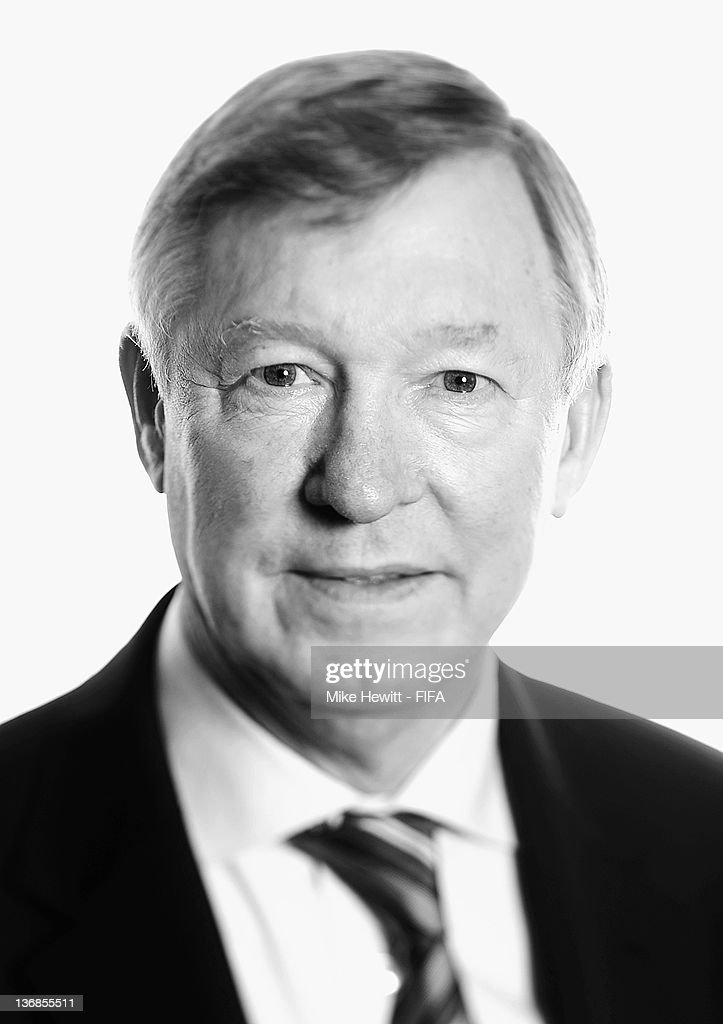 Manchester United manager Sir <a gi-track='captionPersonalityLinkClicked' href=/galleries/search?phrase=Alex+Ferguson&family=editorial&specificpeople=203067 ng-click='$event.stopPropagation()'>Alex Ferguson</a> poses for a portrait prior to the FIFA Ballon d'Or Gala 2011 at the Kongresshaus on January 9, 2012 in Zurich, Switzerland.