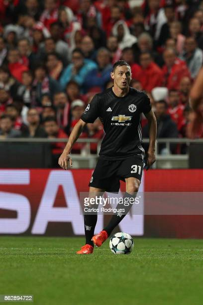 Manchester United midfielder Nemanja Matic from Serbia during SL Benfica v Manchester United UEFA Champions League round three match at Estadio da...