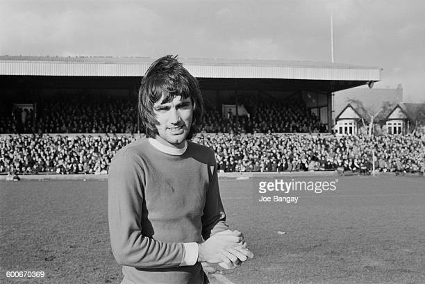 Manchester United player George Best during a match against Northampton Town UK 7th February 1970