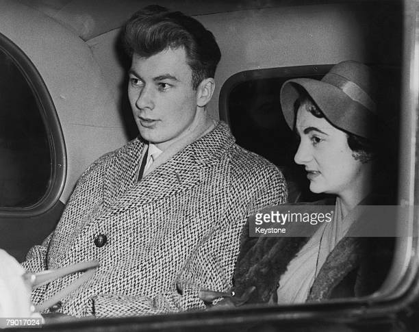 Manchester United player Ken Morgans leaving Liverpool Street Station on his way home from hospital in Munich where he was recovering from injuries...