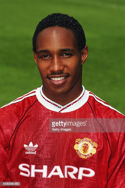 Manchester United player Paul Ince pictured before the 1991/92 season at Old Trafford on August 14 1991 in Manchester England