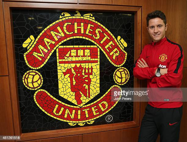 Manchester United unveil new signing Ander Herrera at the AON Training Complex on June 25 2014 in Manchester England