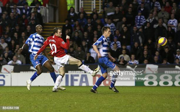 Manchester United Wayne Rooney scores his sides first goal of the match
