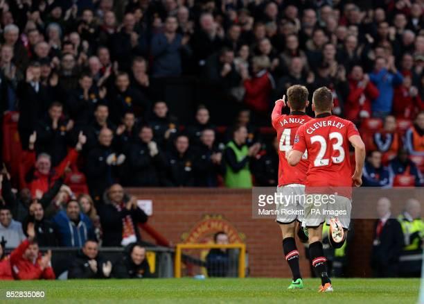 Manchester United's Adnan Januzaj celebrates scoring his goal