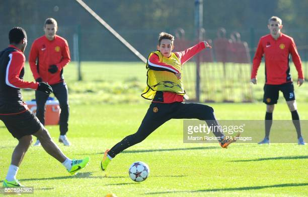 Manchester United's Adnan Januzaj during a training session at Carrington Manchester