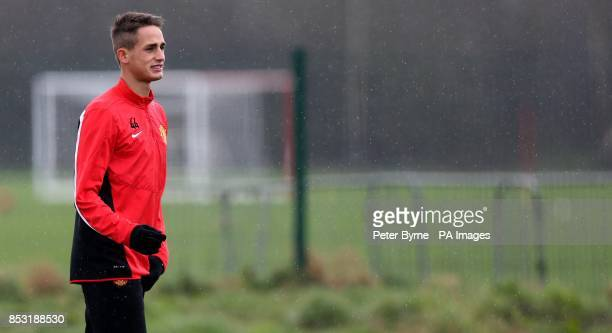 Manchester United's Adnan Januzaj during a training session at the AON Training Complex Manchester PRESS ASSOCIATION Photograph Picture date Tuesday...