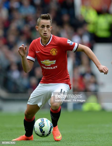 Manchester United's Adnan Januzaj during the Barclays Premier League match at Old Trafford Manchester
