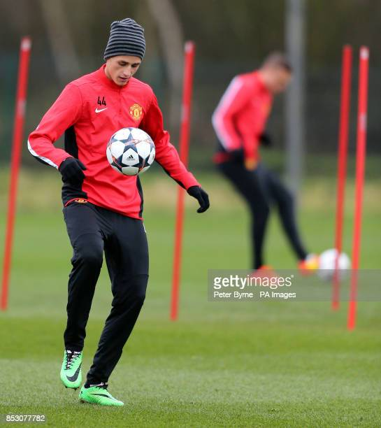 Manchester United's Adnan Januzaj during the training session at the AON Training Complex Manchester