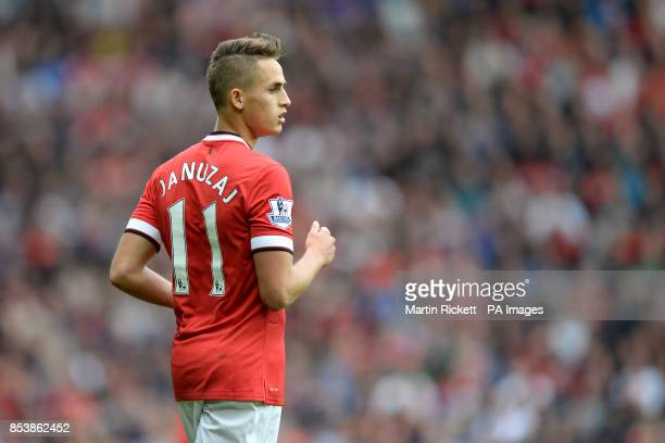 Manchester United's Adnan Januzaj sporting the number eleven shirt during the Barclays Premier League match at Old Trafford Manchester