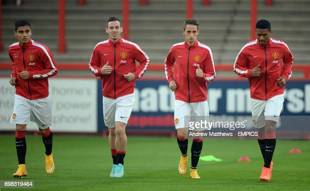 Manchester United's Adnan Januzaj warms up before kick off