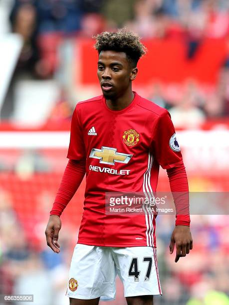 Manchester United's Angel Gomes during the Premier League match at Old Trafford Manchester