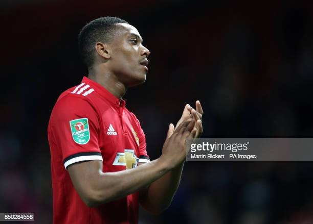 Manchester United's Anthony Martial during the Carabao Cup Third Round match at Old Trafford Manchester