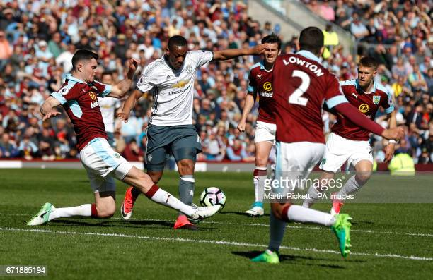 Manchester United's Anthony Martial during the Premier League match at Turf Moor Burnley