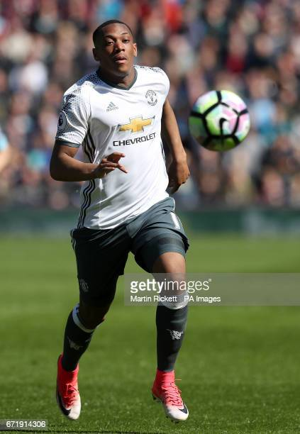 Manchester United's Anthony Martial during the Premier League match at Turf Moor Burnley PRESS ASSOCIATION Photo Picture date Sunday April 23 2017