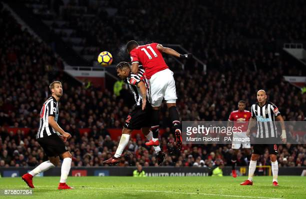 Manchester United's Anthony Martial scores his side's first goal of the game during the Premier League match at Old Trafford Manchester