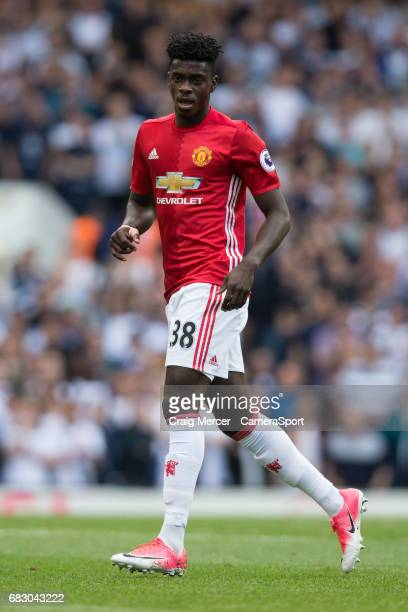 Manchester United's Axel Tuanzebe during the Premier League match between Tottenham Hotspur and Manchester United at White Hart Lane on May 14 2017...