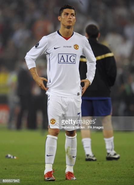 Manchester United's Cristiano Ronaldo appears dejected after the final whistle