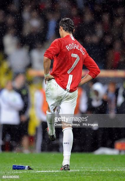 Manchester United's Cristiano Ronaldo looks dejected after missing his penalty