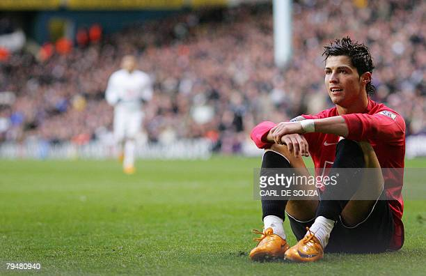 Manchester United's Cristiano Ronaldo looks out during their Premiership match against Tottenham Hotspur at home at White Hart Lane stadium 02...
